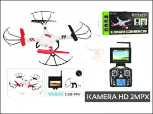 DRON V686G FPV HD MONITOR + KARTA 2GB